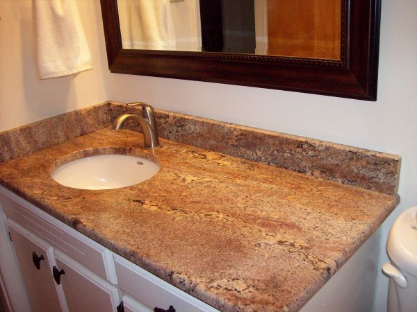New bath countertop